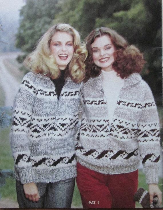 COWICHAN Sweater Knitting PATTERN Simple Geometric design