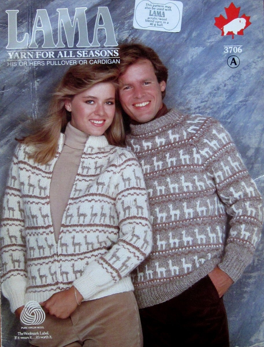 Llama alpaca design sweater knitting pattern from zoom bankloansurffo Choice Image