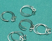 Fancy Sterling Silver Ear wires - 5 pair