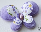 Set of TWO Fuzzy Butterfly Embellishments in PURPLE - Perfect for any bow or craft