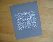 enjoy it poster print // gray