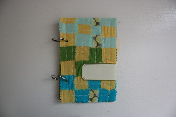 quilted paper journal - seaside