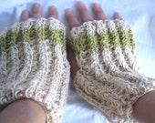 Hemp and Wool Blend Fingerless Gloves