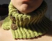 Hemp\/Wool Green Neckwarmer - RESERVED PLEASE DO NOT BUY