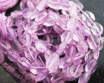 1/2 Strand, Light Amethyst Faceted Oval Beads, 7-10MM