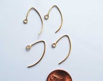 Two Pairs, 24kt karat Gold Vermeil French Earwire