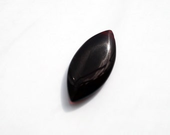 Brown Shaded Chalcedony Marquis Focal Bead, 33x15MM, PK1