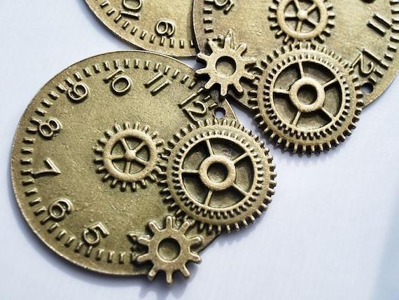 Sale - Last Set, Antique Bronze Mechanical Pendant, 43x50MM, PK2