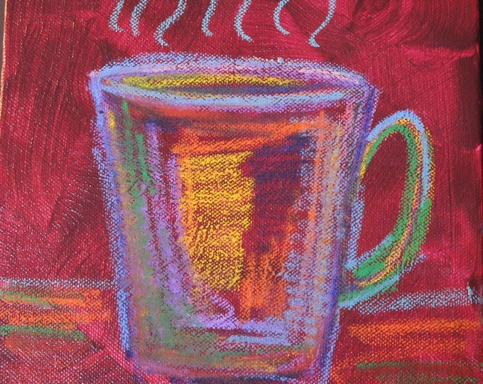 Cup o joe  - Original Painting 8 x  8