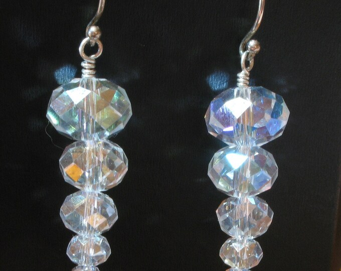 Handmade Crystal Icicle Earrings