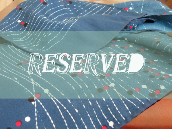 RESERVED for Sonja....vintage peacock blue graphic scarf