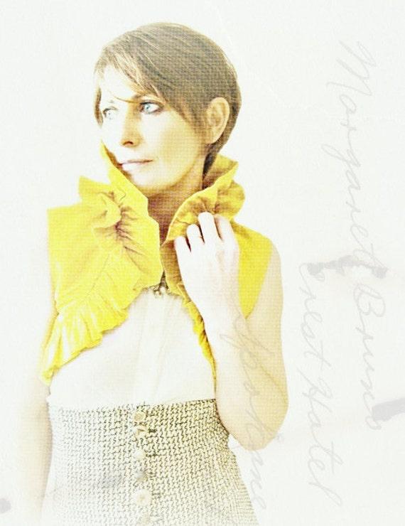 Sunflower Yellow Ruffled Silk Carina Bolero