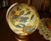 Natural History Globe art piece