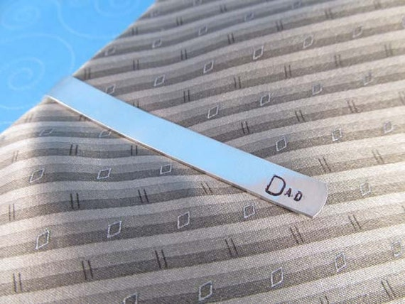 Dad Tie Bar, Gift for Him, Hand Stamped Tie Bar, Great for Father's Day, Ready to Ship
