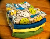 Set of 4 - OS Printed Pocket Diapers - Snap Closure