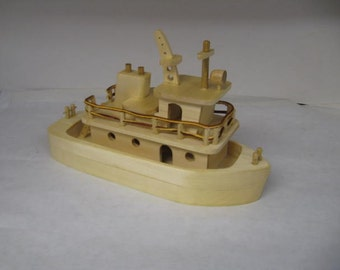 Wood Toy Tug Boat