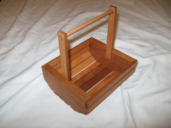 Cherry Wood Basket