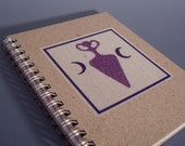 1/ 2 Off Sale - Goddess Spiral Notebook - Recycled Paper
