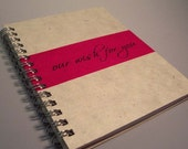Our Wish for You Notebook - Perfect for Weddings - Personalize It - You Choose Colors - Ecofriendly