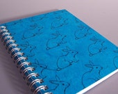 Bunny Spiral Notebook - Ecofriendly - Large Size - You Choose Cover Color