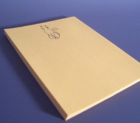 SALE - Kitty Cat Notepad - Recycled Paper