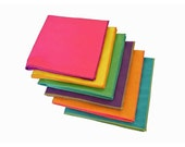 Cloth Dinner Napkins - Double Sided Brights - Set of 6