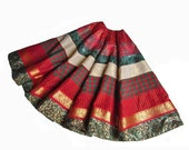 Christmas Tree Skirt - Red, Green and Gold - Holiday Patchwork