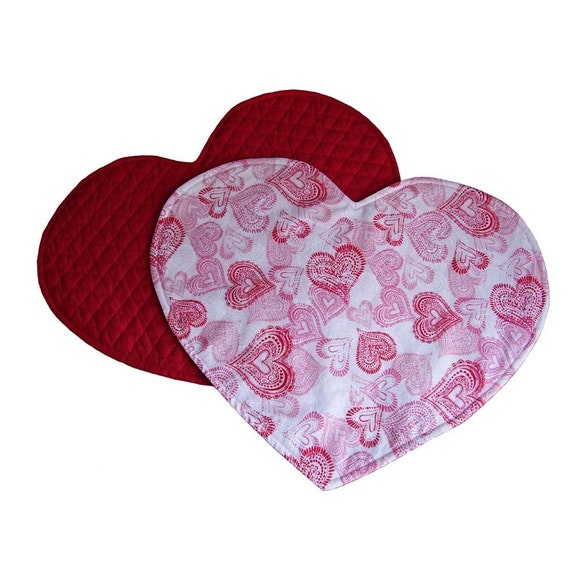Heart Shaped Placemats Heart Placemats Valentine Placemats