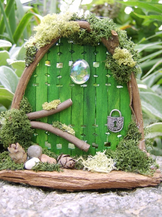 Fairy door with landscaping and legend included for Make an elf door