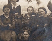 The Girl Gang - Vintage Photograph of young women in some European or Scandinavian country