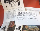 Zine about Collecting Postcards - with Free Postcard - Paper Crush no. 4