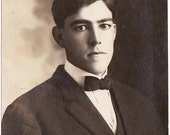 He Could be a little Intense - Antique Portrait of Young Man