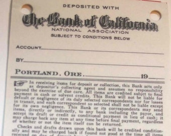 6 Old Bank of California Deposit Slips - ACEO Collage ATC