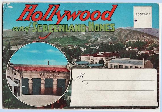 Vintage Souvenir Postcard Folder from Old Old Hollywood - circa 1920s