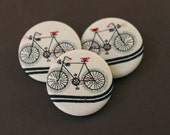 bike buttons in black. set of 3