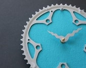 bicycle clock - turquoise