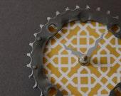 bicycle clock - geometrical yellow