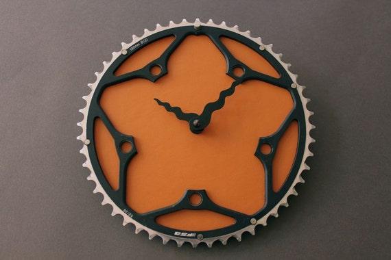 bicycle clock - FSA earth orange