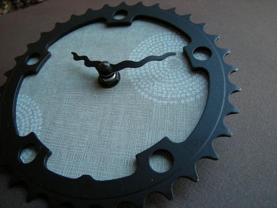 stargazer recycled bike clock