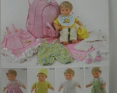 "Simplicity 1952 Pattern for 15"" Doll Clothes, Carrier, Blanket, Bitty Baby New Uncut"