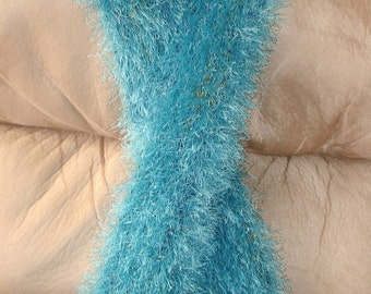 Aqua Marine Fur Ever Knit Scarf 4.5 x 78