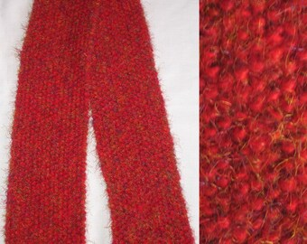 Racy Red Frenzy Knit Scarf 5.5 x 67