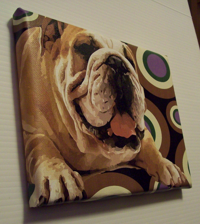 Old English Bulldog Pop Art Painting