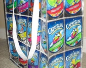 The Double Wide - Upcycled Capri Sun Juice Pouch Large Tote/Pool Bag