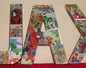 RESERVED for Calie- Made to Order Comic Book Letters Wall Hangers Avengers, Spiderman, Thor, Batman, Superman, XMEN