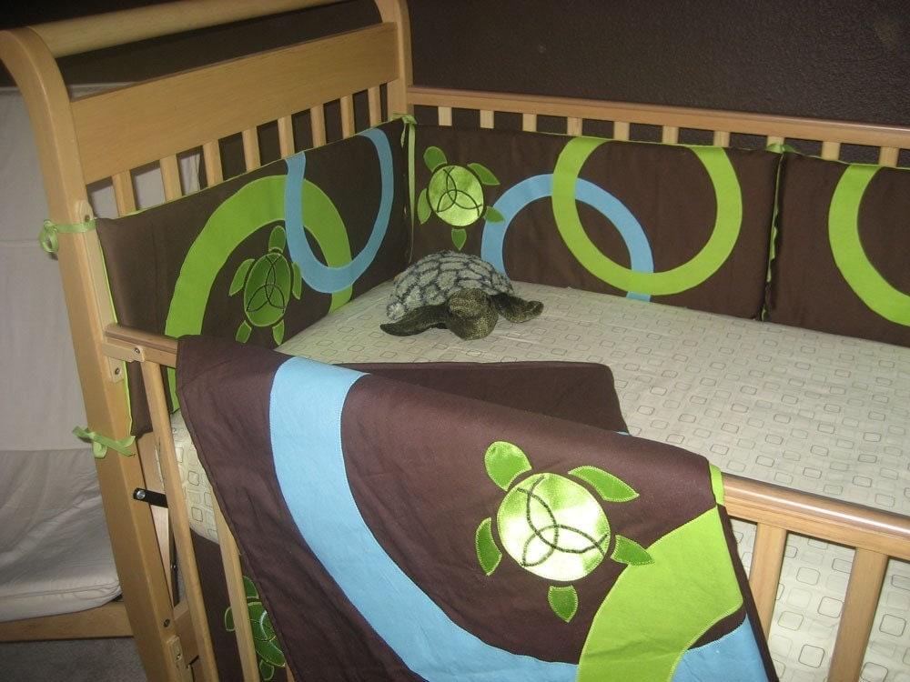 Sea Turtle Crib Bedding Set Geenny Crib Cf 2052 Sea