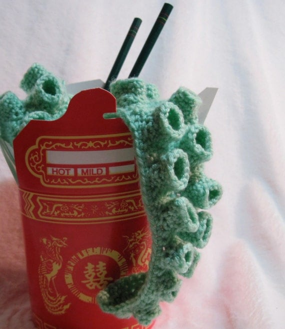 Take Out Tentacle Scarf in Seafoam Green