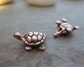 Turtle Beads Copper Tierracast Four