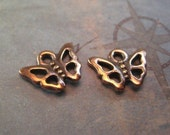 Tiny Butterfly Charms Baby Insect Dangles Tierracast Copper