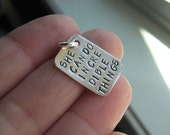She Can Do Incredible Things Sterling Silver Charm Handmade